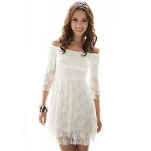 popular white lace dress