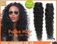 "12""-32"" Mix Lengh 5pcs/lot 100% Brazilian Human Hair Extensions Machine Weft Deep Wave DHL Free Shipping 1B"