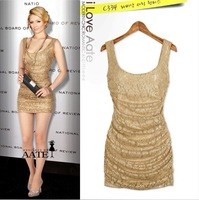 2013 Best Seller Women's Summer New Fashion Sexy dress Club Gold Printed Puls Size Dress
