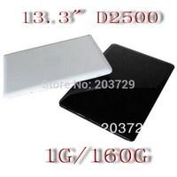 Free shipping ems dhl 13.3 inch Memory 1G  160G  Intel atom D2500/N2600  1.6GHz Netbook mini Laptop