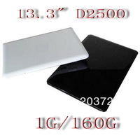 Free shipping ems dhl 13.3 inch Memory 1G  160G  Intel atom D2500 1.86GHz Netbook mini Laptop