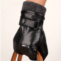 100% Sheep Leather gloves with Cashmere Lining high quality free shipping