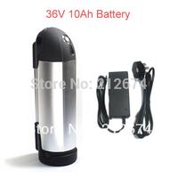 36v 10ah  bottle battery for  electric bike Including charger +holder