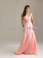 Famous Design 2013 Summer One-shoulder Beaded Women Pink Prom Dresses