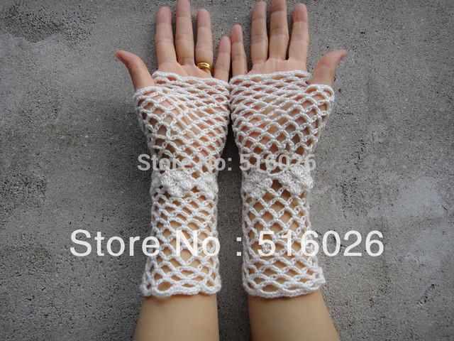 Вязка крючком кружево перчатки