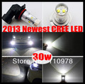 2013 Newest 30W Xenon White H4,H7,H8,H11,H16,9005 HB3 9006 HB4,1156  P13W CREE High Power Fog Light Driving Headlight DRL Bulb