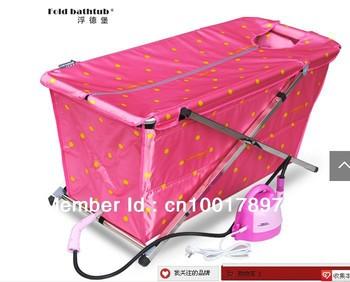 long size:117CM bath tub with steam / free standing / shower barrels / keep warm bathtub/ portable bathtub sauna