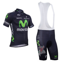 2013 MOVISTAR Team Cycling clothing /Cycling wear/ Cycling  jersey short sleeve+ Bib Shorts Suite MOVISTAR-1B Free Shipping