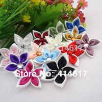 20x Fancy 2tone Ribbon flower Bauhinia Appliques Craft/Wedding Lots Upick A1027