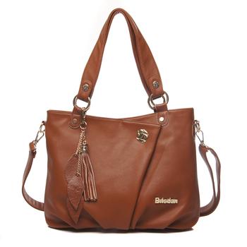 New hot sale occident brands fashion vintage genuine leather women's handbag messenger bag cowhide women's shoulder tassel bags
