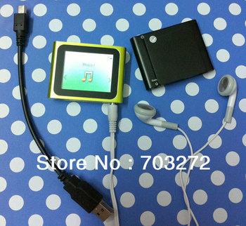 Hot sale!New 1.8 inch screen Support 1-16GB Micro memory card 6th gen digital Clip MP3 MP4 Player with FM/Video/E-book Fution