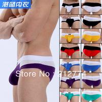 Underwear men pouch male panties cotton mesh comfortable breathable briefs brand 2013 new arrival wj7086