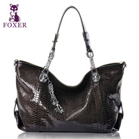 FOXER new 2013 vintage women leather handbags fashion woman messenger bag designers brand  ladies shoulder bags cowhide totes