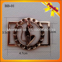 (BB-01) Promotion high quality kangaroo gold metal bag buckles for side release buckles
