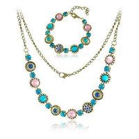 High Quality Fashion Vintage Jewelry Set Pendant Necklace Bracelet for Women/Men Promotion Price  S025
