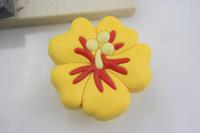 10Pcs/Lot Kids Childrens Novelty Wardrobe Drawer Cabinet Cupboard Yellow Flower Handles Knobs