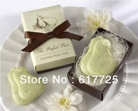 10Pcs/Lot ,Free Shipping Style Wedding Bridal Shower Favors Baby Christening Party Bath Scented Soap Love Heart Xmas Gifts