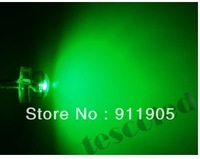 free shipping 200pcs/lot 5mm LED green water clear led diodes Straw Hat LED green Light Emitting Diode