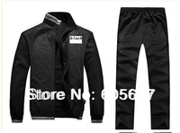 free shipping 2013 NEW  spring and autumn the fashion leisure sports clothes  double collar,plus size men's sports  set