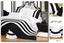 black white stripe bedding promotion