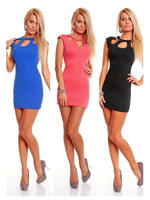 Most Popular Ladies Women Fashiom Blue Pink Black Sexy Mini Dress Party Dress Fancy Costume Good Quality J8858