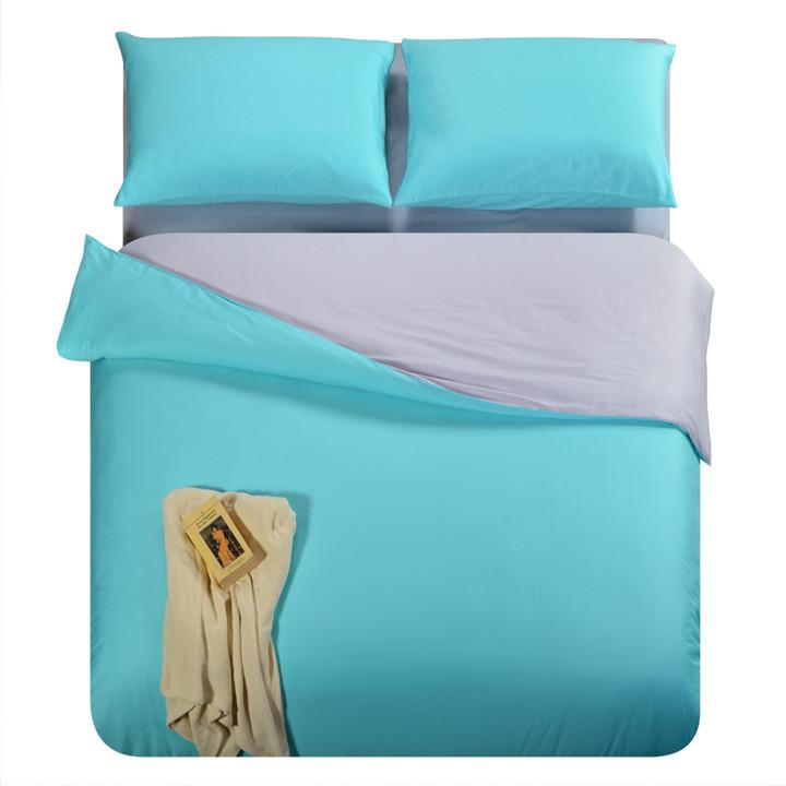 Set Solid Color Plain Queen King Twin Comforter Duvet