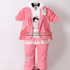 Hot Seller Girls Spring Clothing Suit 3 Pcs Children Coat And Cotton T Shirt And Jeans Pants Kids Clothes Set CS30202-11^^EI