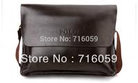 FREE SHIPPING High Quality Men Shoulder Bag Business Bag Fashion Men Messenger Bag black/brown 33*26*7cm