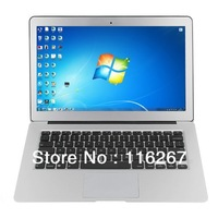 "14.1"" Air Laptop Intel D2500 CPU Dual Core 1.80GHz 2G DDR3 320G windows7 Computer Laptop"