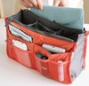 12Colors Promotions Lady&#39;s organizer bag handbag organizer travel bag organizer insert with pockets storage bags(China (Mainland))