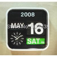 Fartech 43cm flip clock with calendar, wall clock