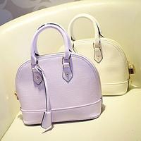 FREE SHIPPINGnd wholesale women handbags of famous brand designer leather purple shell bags high quality fashion handbags 2013