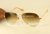 brand rb aviator sunglasses men/women fashion designer sunglasses rb3025 112/85 matte gold w/ brown gradient lens 58mm