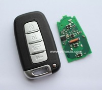 Hyundai 4 button smart card remote key 434mhz with electronic ID46 transponder chip