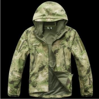Military Outdoor Sports Jacket Soft Hard Shell Windproof Jacket Coat xs-4xl