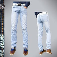 [TC Jeans] 2014 new arrival men clothing straight jeans for men pants male slim jeans pencil skinny pants denim pants