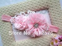 Baby girls Headbands - Anny baby headband - lace mesh cloth with lovely flowers Headbands 20pcs/lot