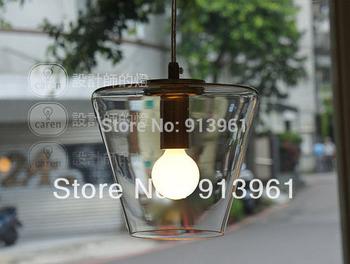 IKEA Modern Nordic American minimalist lamp crystal glass cone Pendant Lights ,FREE SHIPPING
