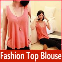 All-Match Fashion Women Chiffon Sleeveless Petal Vest Top Blouse T2526