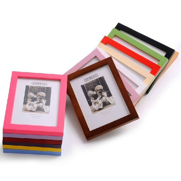 cheap wooden photo frame for picture 6 inches combination photo wall mounted modern household adornment handicraft home artdecor(China (Mainland))