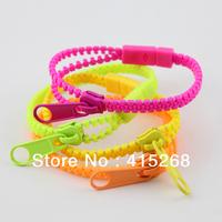 Promotion !!! Mix All Design Multicolor Zipper Bracelets Bangles Charm Bracelet  Mix 200 pcs/lot