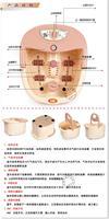 Foot bath z02 heated feet basin foot stone massage foot basin foot bath