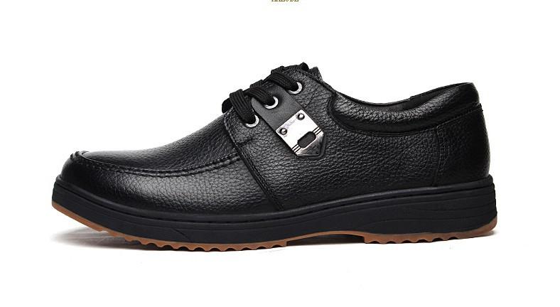 2014 nouvelle mode des hommes en cuir véritable à la recherche de bonnes chaussures appartements