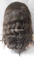 FREE shipping brazilian virgin curly U-part cap lace front wigs