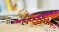 Belt leather fashion lady slender waist belt decorative knots leather fine belt of female money han BFS1082