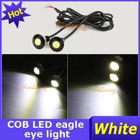 A Pair 12V Motor Backup led Rear Lamp Black Daytime Running Light Car DRL White LED COB Eagle Eye Tail Lighting