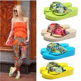 New 2015 Wedges Platform Sandals Flip Flops Ultra High Heels Slippers Women's Shoes Platform Shoes Pump Sandals Sapatos Chinelo