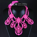 K&M---Wonderful design statement brand necklace NK-00905 three colors, Free Shipping