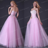 Cheap Price!! Grace Karin Sexy Stock Strapless Corset-style Long Party Gown Prom Dresses Formal Evening Dress 2014 CL3519