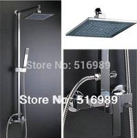 """8 """"Rain Shower head + shower + shower faucet arm Valve Set SO-015"""